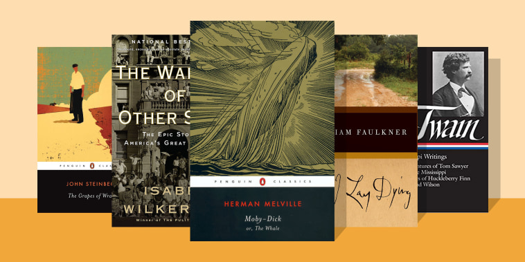 Illustration of five books to read, picked by Read With Jenna if you enjoyed The Lincoln Highway