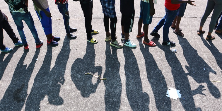 Image: Migrants wait for asylum processing, in Tapachula