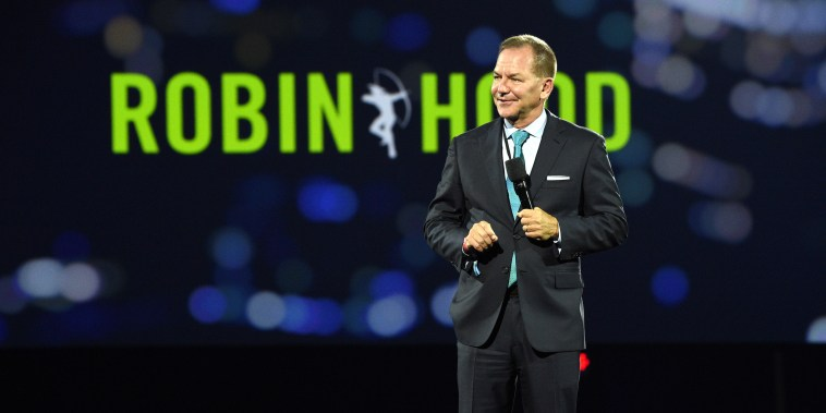 Founder of The Robin Hood Foundation, Paul Tudor Jones speaks onstage during the Robin Hood Benefit at Jacob Javits Center on Oct. 20, 2021 in New York.