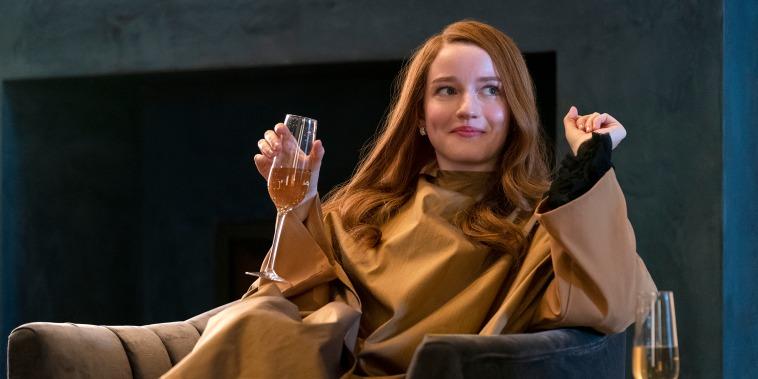 Julia Garner as Anna Delvey in Inventing Anna.