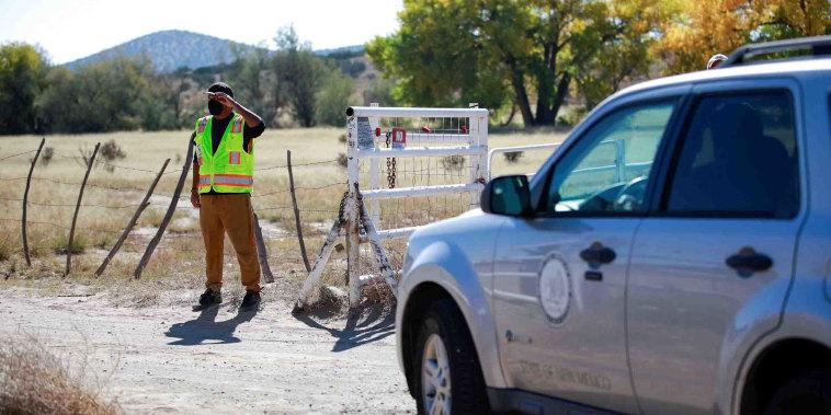 "Image: FILE PHOTO: Bonanza Creek Ranch where on the film set of ""Rust"" Hollywood actor Alec Baldwin fatally shot cinematographer Halyna Hutchins in Santa Fe"