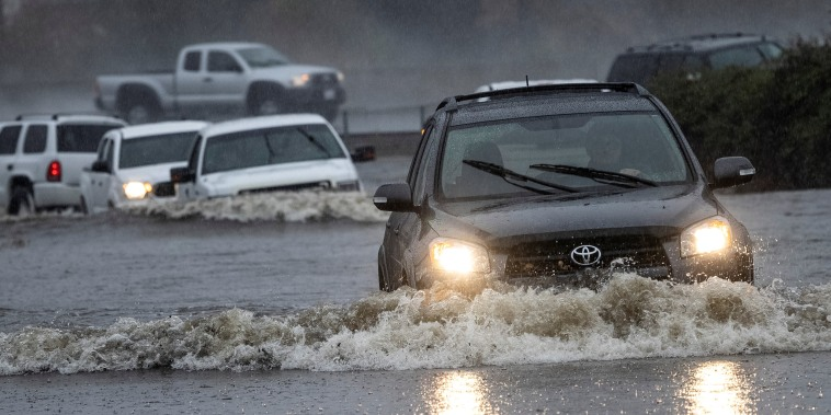 Image: Powerful storm drenches California