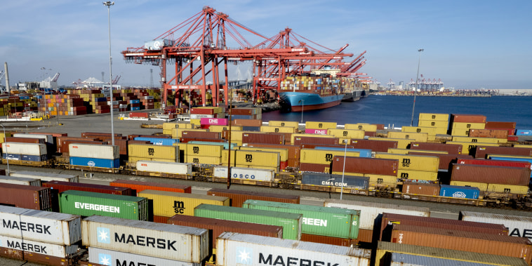 Port Of Long Beach As Shipping Gridlock Stretches Supply Lines Thin