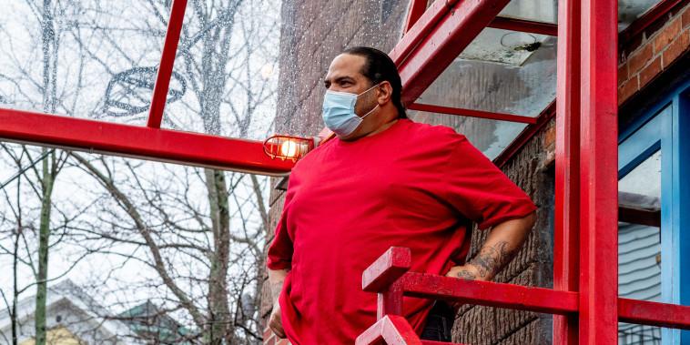 Image: Diego is receiving treatment for opioid addiction at Casa Esperanza in Boston.
