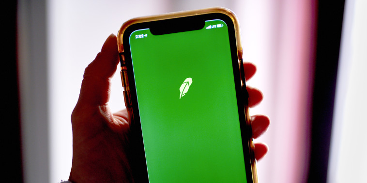 Robinhood on a smartphone on Dec. 18, 2020.