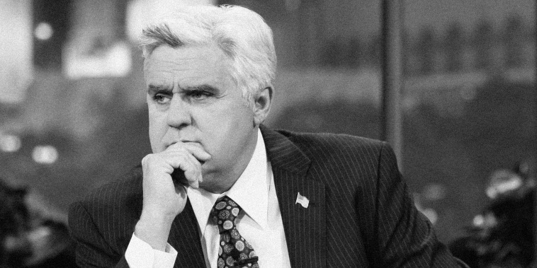 """Jay Leno hosts an episode of """"The Tonight Show with Jay Leno"""" on April 14, 2011."""