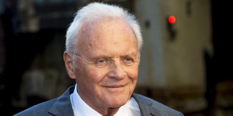 Anthony Hopkins appears at the Chicago premiere of Transformers The Last Knight on June 20, 2017.