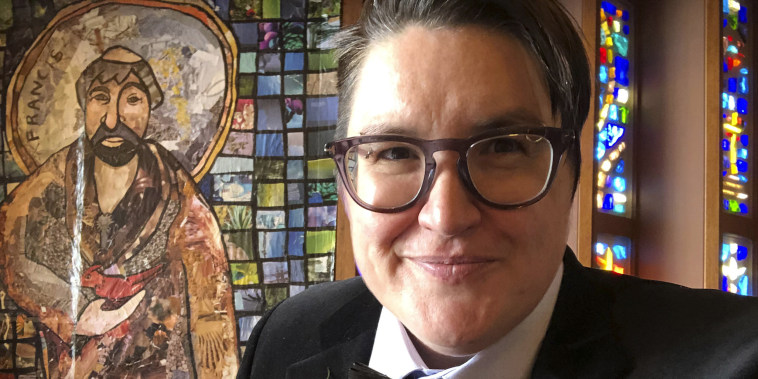 Rev. Megan Rohrer, at the Grace Lutheran Church in San Francisco in April 2021.