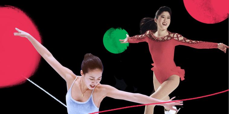 Photo illustration: Figure Skaters Michelle Kwan and Kristi Yamaguchi