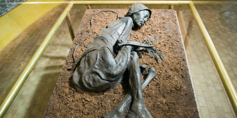 Image: Preserved body of the Tollund Man