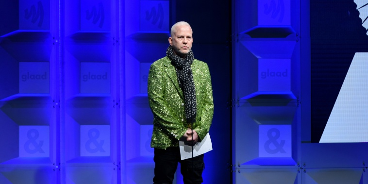 Ryan Murphy speaks at the 29th Annual GLAAD Media Awards on April 12, 2018 in Beverly Hills, Calif.
