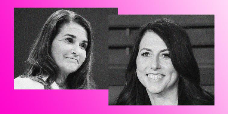 Image: Melinda French Gates and MacKenzie Scott.
