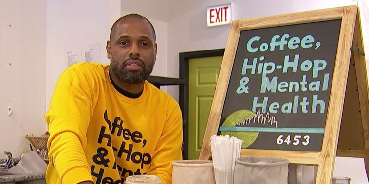 """Christopher LeMark, the founder of """"Coffee, Hip-Hop and Mental Health,"""" has dealt with trauma for much of his life after being """"abandoned and abused for a span of 12 years."""