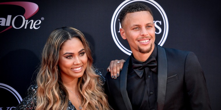 NBA player Steph Curry and Ayesha Curry attend The 2017 ESPYS on July 12, 2017 in Los Angeles.