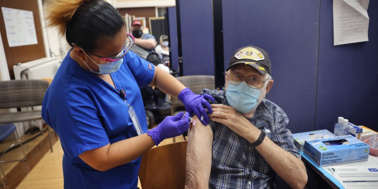 Image: Veterans Affairs Hospital Outside Of Chicago Continues Vaccinations Efforts