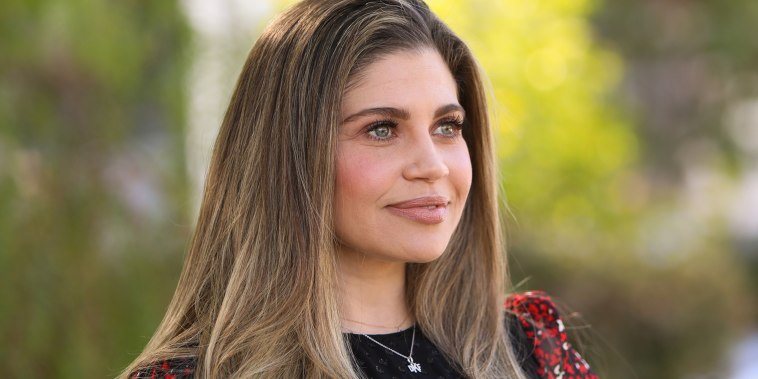 """Actress Danielle Fishel visits Hallmark Channel's """"Home & Family"""" at Universal Studios Hollywood on January 28, 2020 in Universal City, California."""