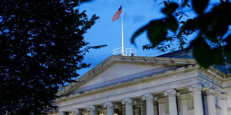 Edificio del Departamento del Tesoro en Washington D.C.