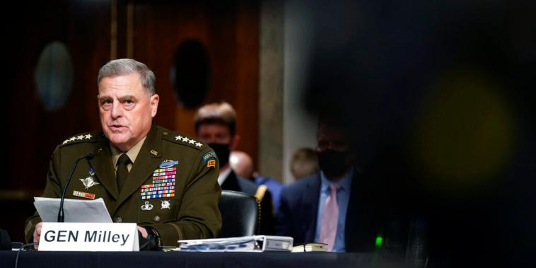 El general de mayor rango de EE.UU., Mark A. Milley, durante su comparecencia ante el Comité de Servicios Armados del Senado.