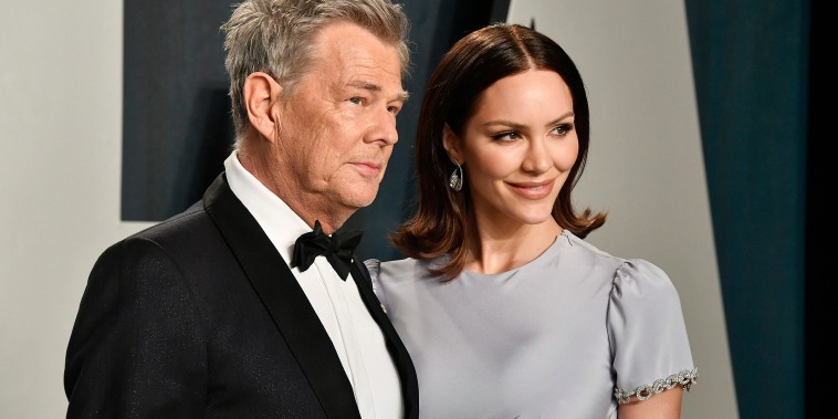 BEVERLY HILLS, CALIFORNIA - FEBRUARY 09:  David Foster and Katharine McPhee attend the 2020 Vanity Fair Oscar Party hosted by Radhika Jones at Wallis Annenberg Center for the Performing Arts on February 09, 2020 in Beverly Hills, California.