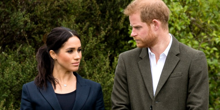 Prince Harry, Duke of Sussex and Meghan, Duchess of Sussex visit the North Shore on Oct. 30, 2018 in Auckland, New Zealand.