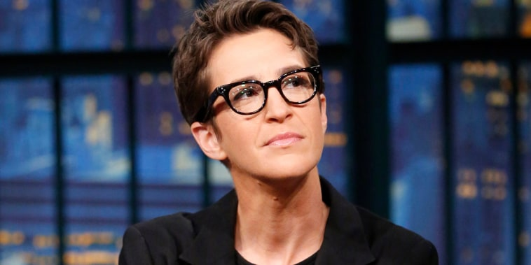 Image: Rachel Maddow during an interview on Dec. 21, 2016.