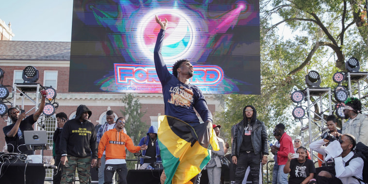 Image: A dancer performs during Howard University Homecoming on Oct.11, 2019 in Washington.