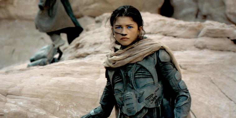 "Zendaya as Chani in Warner Bros.  ""DUNE""."