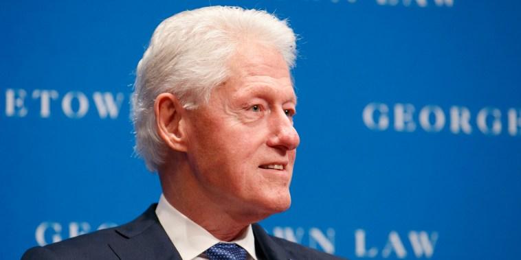 Bill Clinton, en un acto público en octubre de 2019.