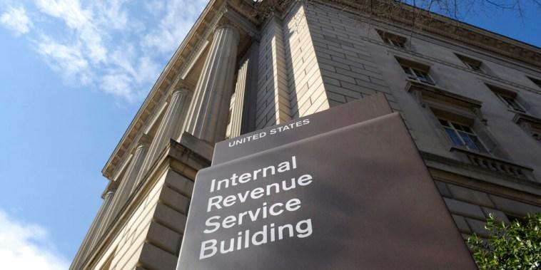 Un edificio del Servicio de Rentas Internas (IRS)