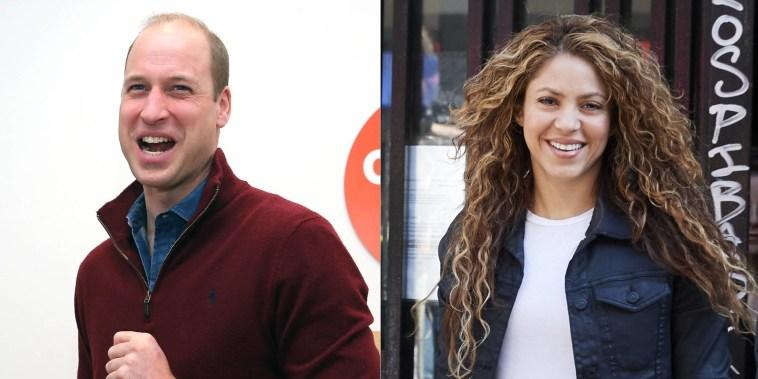 El príncipe William halagó a Shakira