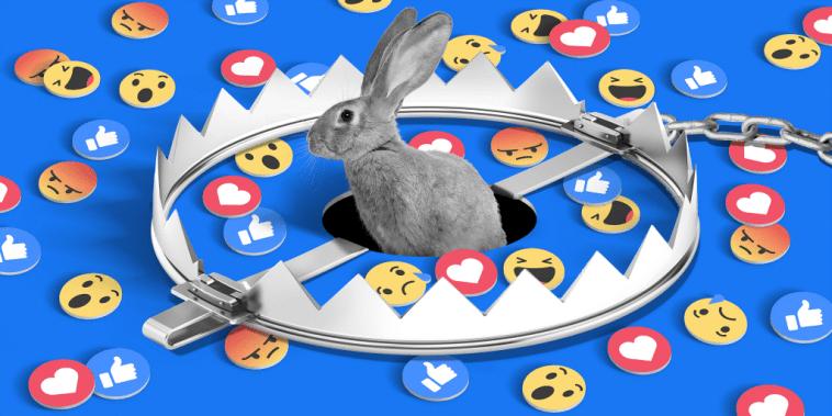 Ilustración sobre una trampa en la que pueden caer los usuarios de Facebook