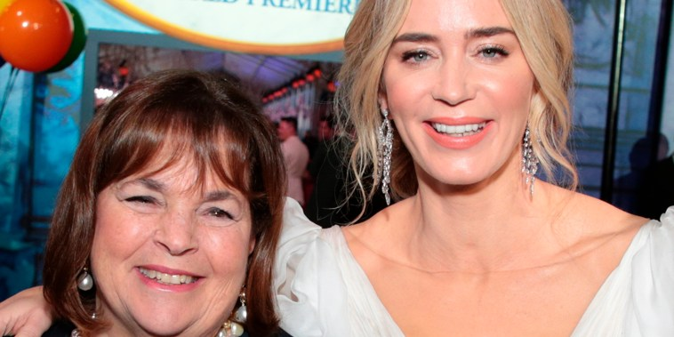 Ina Garten and Emily Blunt and attend The World Premiere of Disney's Mary Poppins Returns on November 29, 2018.