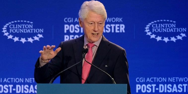 El expresidente Bill Clinton asiste a una reunión de la Red de Acción de la Iniciativa Global Clinton (CGI) en San Juan, Puerto Rico 18 de febrero de 2020.