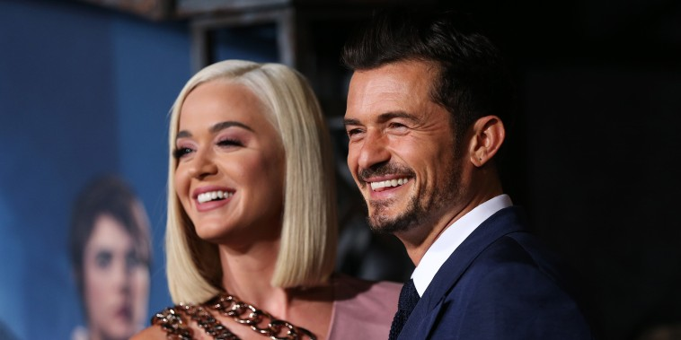 """Katy Perry and Orlando Bloom attend the LA premiere of Amazon's """"Carnival Row"""" at TCL Chinese Theatre on August 21, 2019 in Hollywood, California."""