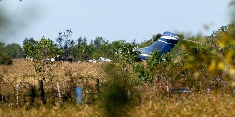 Image: Texas plane crash