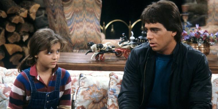 """Alyssa Milano and Tony Danza on Who's the Boss? """"Samantha's Growing Up"""" Season One, January 8, 1985."""
