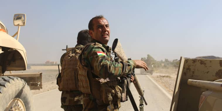 Ardalan, a PAK soldier, responds as the convoy comes under fire.