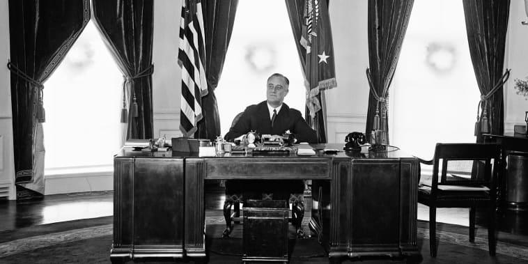 Image: President Franklin Delano Roosevelt in the Oval Office
