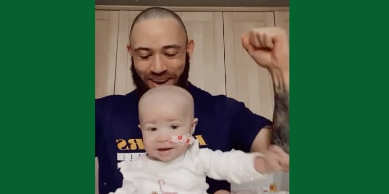 Ashley Cain with his later daughter, Azaylia Diamond.