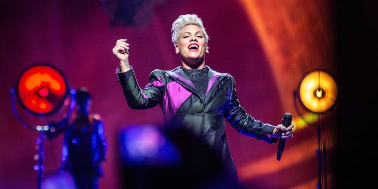Image: Oslo, Norway. 05th, August 2019. The American singer, songwriter and actress Pink performs a live concert at Telenor Arena in Oslo. (Photo credit: Gonzales Photo - Terje Dokken).