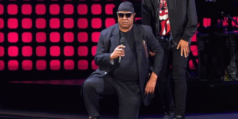 Watch Stevie Wonder Take a Knee for America