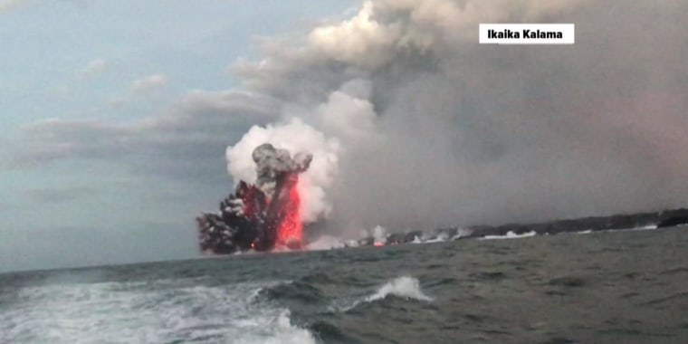 Watch fying 'lava bomb' hit Hawaii tour boat, injure 23