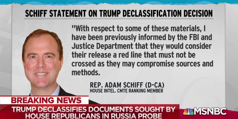 Pres. Trump declassifies Russia investigation docs