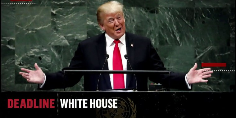 U.N. audience laughs at Pres. Trump's remarks praising his administration