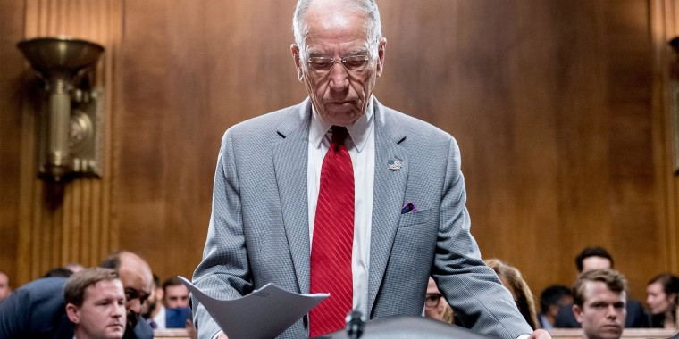 Sen. Grassley's ex-press aide resigns over alleged harassment in past
