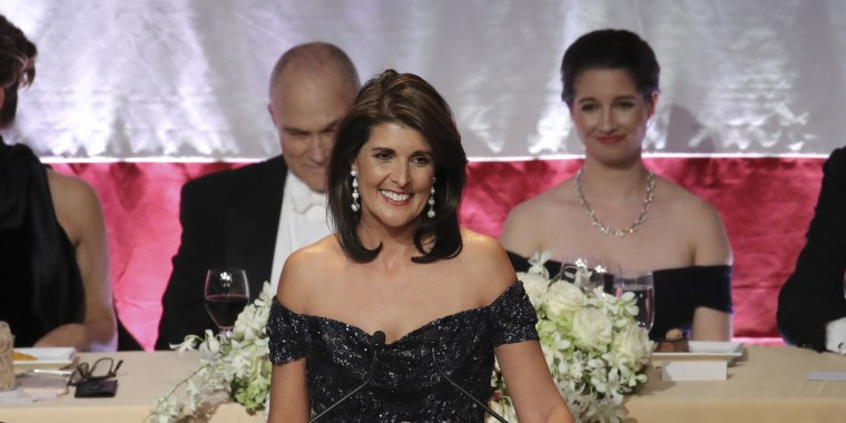 Nikki Haley quips about Trump at Al Smith Dinner