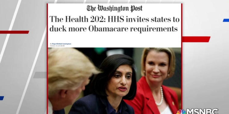 WaPo: Trump allows states to skirt Obamacare requirements