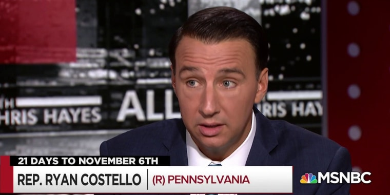 Chris Hayes and Rep. Costello spar over the Economy