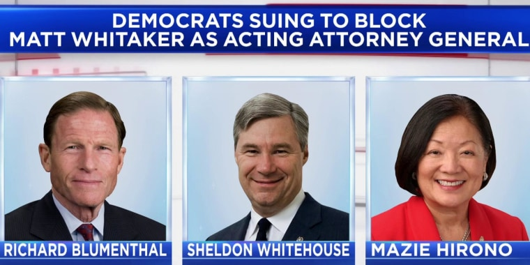 Senate Democrats sue to block Whitaker from serving as Attorney General