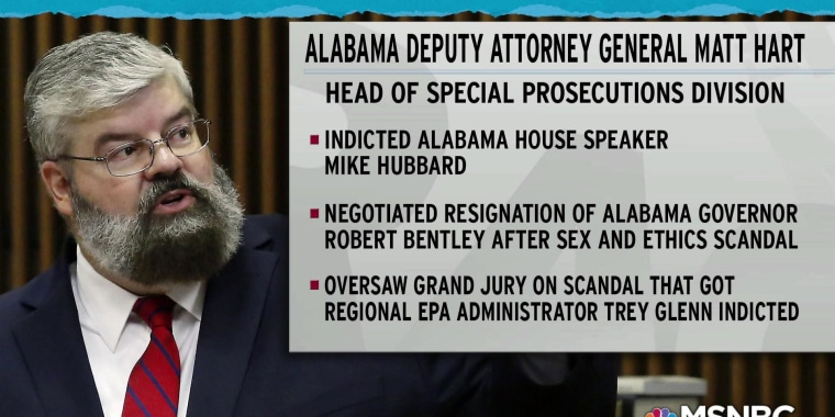 Alabama A.G. removes state's top public corruption fighter